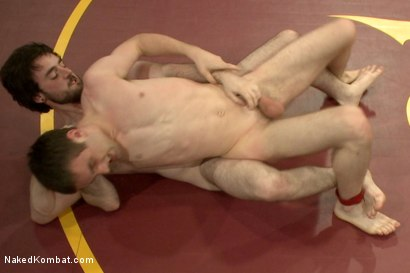 """Photo number 8 from Rowen """"The Jackhammer"""" Jackson vs Andrew """"The Assassin"""" Collins  shot for Naked Kombat on Kink.com. Featuring Rowen Jackson and Andrew Collins in hardcore BDSM & Fetish porn."""