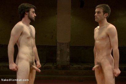 "Photo number 15 from Rowen ""The Jackhammer"" Jackson vs Andrew ""The Assassin"" Collins  shot for Naked Kombat on Kink.com. Featuring Rowen Jackson and Andrew Collins in hardcore BDSM & Fetish porn."