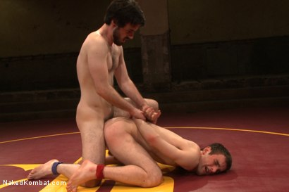 """Photo number 14 from Rowen """"The Jackhammer"""" Jackson vs Andrew """"The Assassin"""" Collins  shot for Naked Kombat on Kink.com. Featuring Rowen Jackson and Andrew Collins in hardcore BDSM & Fetish porn."""