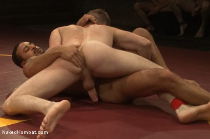 "Photo number 5 from Damian ""The Decimator"" Taylor vs Doug ""The Destroyer"" Acre shot for Naked Kombat on Kink.com. Featuring Damian Taylor and Doug Acre in hardcore BDSM & Fetish porn."