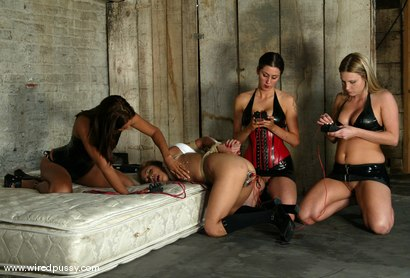 Photo number 2 from Harmony, Isis Love and Kat shot for Wired Pussy on Kink.com. Featuring Kat, Harmony and Isis Love in hardcore BDSM & Fetish porn.