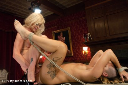 Photo number 12 from Caged Girl, Caged Cock:TS Joanna Unleashes her Cock on an Amateur Girl shot for TS Pussy Hunters on Kink.com. Featuring Joanna Jet and Andre Shakti in hardcore BDSM & Fetish porn.