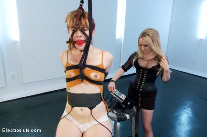 Photo number 10 from Aiden Starr Trains Pretty Redhead To Be An Electroslut! shot for Electro Sluts on Kink.com. Featuring Aiden Starr and Claire Robbins in hardcore BDSM & Fetish porn.