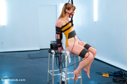 Photo number 1 from Aiden Starr Trains Pretty Redhead To Be An Electroslut! shot for Electro Sluts on Kink.com. Featuring Aiden Starr and Claire Robbins in hardcore BDSM & Fetish porn.