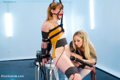 Photo number 4 from Aiden Starr Trains Pretty Redhead To Be An Electroslut! shot for Electro Sluts on Kink.com. Featuring Aiden Starr and Claire Robbins in hardcore BDSM & Fetish porn.