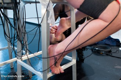 Photo number 5 from Aiden Starr Trains Pretty Redhead To Be An Electroslut! shot for Electro Sluts on Kink.com. Featuring Aiden Starr and Claire Robbins in hardcore BDSM & Fetish porn.