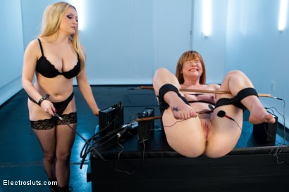 Photo number 1 from Claire Robbins Double Stuffed By Electrified Metal Cocks! shot for Electro Sluts on Kink.com. Featuring Aiden Starr and Claire Robbins in hardcore BDSM & Fetish porn.