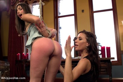Photo number 8 from Adorable 20 year old captured, punished and ass fucked! shot for Whipped Ass on Kink.com. Featuring Kristine Kahill and Gia DiMarco in hardcore BDSM & Fetish porn.