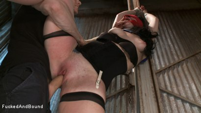 Photo number 4 from Damsel Dilemma  shot for Fucked and Bound on Kink.com. Featuring Siouxsie Q and Owen Gray in hardcore BDSM & Fetish porn.