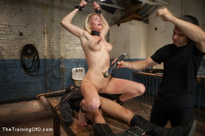 Photo number 11 from Training a Perfect Little Cock Sucker, Day Three shot for The Training Of O on Kink.com. Featuring Allie James and Wolf Jenner in hardcore BDSM & Fetish porn.