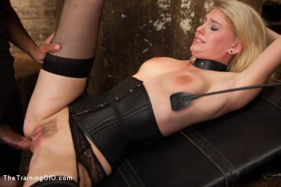 Photo number 9 from Training a Perfect Little Cock Slut, Final Day shot for The Training Of O on Kink.com. Featuring Allie James and Mickey Mod in hardcore BDSM & Fetish porn.