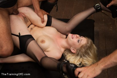 Photo number 12 from Training a Perfect Little Cock Slut, Final Day shot for The Training Of O on Kink.com. Featuring Allie James and Mickey Mod in hardcore BDSM & Fetish porn.