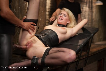 Photo number 14 from Training a Perfect Little Cock Slut, Final Day shot for The Training Of O on Kink.com. Featuring Allie James and Mickey Mod in hardcore BDSM & Fetish porn.