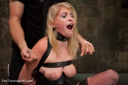 Photo number 8 from Training a Perfect Little Cock Slut, Final Day shot for The Training Of O on Kink.com. Featuring Allie James and Mickey Mod in hardcore BDSM & Fetish porn.