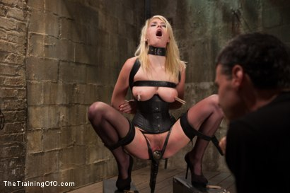 Photo number 3 from Training a Perfect Little Cock Slut, Final Day shot for The Training Of O on Kink.com. Featuring Allie James and Mickey Mod in hardcore BDSM & Fetish porn.