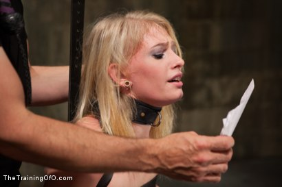Photo number 4 from Training a Perfect Little Cock Slut, Final Day shot for The Training Of O on Kink.com. Featuring Allie James and Mickey Mod in hardcore BDSM & Fetish porn.