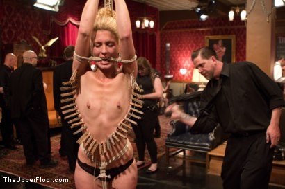Photo number 5 from Anal Slave Meets the Household, and a Gorgeous Guest is Ass Fucked shot for The Upper Floor on Kink.com. Featuring Penny Barber, Bill Bailey and Simone Sonay in hardcore BDSM & Fetish porn.
