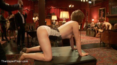 Photo number 2 from Anal Slave Meets the Household, and a Gorgeous Guest is Ass Fucked shot for The Upper Floor on Kink.com. Featuring Penny Barber, Bill Bailey and Simone Sonay in hardcore BDSM & Fetish porn.