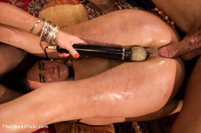 Photo number 12 from Anal Slave Meets the Household, and a Gorgeous Guest is Ass Fucked shot for The Upper Floor on Kink.com. Featuring Penny Barber, Bill Bailey and Simone Sonay in hardcore BDSM & Fetish porn.
