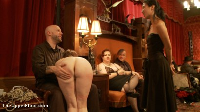 Photo number 9 from Anal Slave Barks to Come while House Slave Earns Her Leathers shot for The Upper Floor on Kink.com. Featuring Penny Barber, Danny Wylde, Pink and Claire Robbins in hardcore BDSM & Fetish porn.