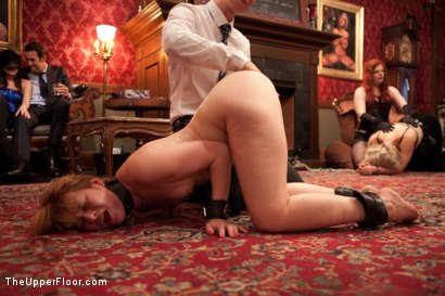 Photo number 6 from Anal Slave Barks to Come while House Slave Earns Her Leathers shot for The Upper Floor on Kink.com. Featuring Penny Barber, Danny Wylde, Pink and Claire Robbins in hardcore BDSM & Fetish porn.