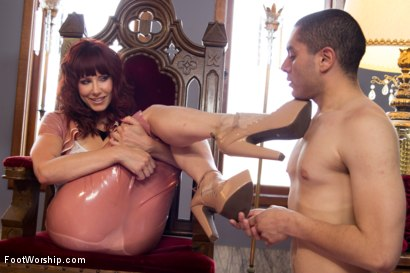 Photo number 4 from Maitresse Madeline's Foot Worship POV! shot for Foot Worship on Kink.com. Featuring Maitresse Madeline Marlowe  and Johnny Ruiz in hardcore BDSM & Fetish porn.