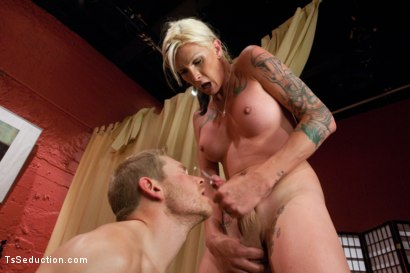Photo number 13 from Crouching Morgan Bailey, Hidden Monster Cock shot for tsseduction on Kink.com. Featuring Alex Adams and Morgan Bailey in hardcore BDSM & Fetish porn.