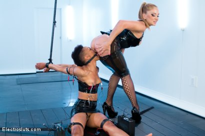 Photo number 6 from Exotic Sex Pot, Nikki, Feels Electrosex for the 1st Time!! shot for Electro Sluts on Kink.com. Featuring Lea Lexis and Nikki Darling in hardcore BDSM & Fetish porn.