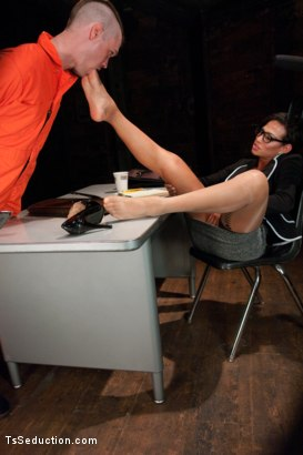Photo number 3 from Serving Your Ass to Her Cock to Spring Yourself from Jail shot for TS Seduction on Kink.com. Featuring Mike Panic and Jaquelin Braxton in hardcore BDSM & Fetish porn.
