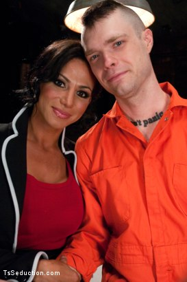 Photo number 1 from Serving Your Ass to Her Cock to Spring Yourself from Jail shot for TS Seduction on Kink.com. Featuring Mike Panic and Jaquelin Braxton in hardcore BDSM & Fetish porn.