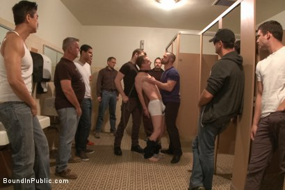 Photo number 1 from Holden Phillips wants to be used and humiliated to the extreme shot for Bound in Public on Kink.com. Featuring Holden Phillips, Adam Herst and Hayden Richards in hardcore BDSM & Fetish porn.