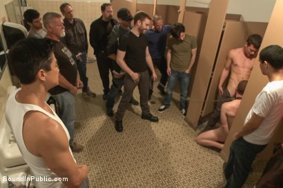 Photo number 5 from Holden Phillips wants to be used and humiliated to the extreme shot for Bound in Public on Kink.com. Featuring Holden Phillips, Adam Herst and Hayden Richards in hardcore BDSM & Fetish porn.