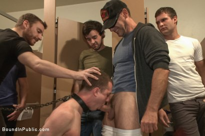 Photo number 2 from Holden Phillips wants to be used and humiliated to the extreme shot for Bound in Public on Kink.com. Featuring Holden Phillips, Adam Herst and Hayden Richards in hardcore BDSM & Fetish porn.