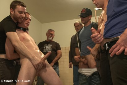 Photo number 10 from Holden Phillips wants to be used and humiliated to the extreme shot for Bound in Public on Kink.com. Featuring Holden Phillips, Adam Herst and Hayden Richards in hardcore BDSM & Fetish porn.