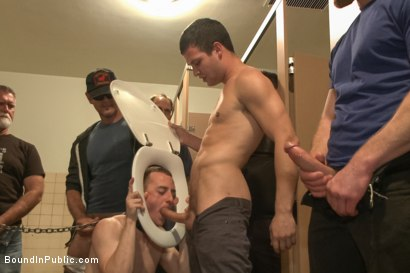 Photo number 11 from Holden Phillips wants to be used and humiliated to the extreme shot for Bound in Public on Kink.com. Featuring Holden Phillips, Adam Herst and Hayden Richards in hardcore BDSM & Fetish porn.