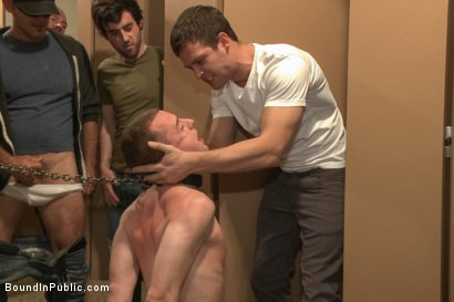 Photo number 3 from Holden Phillips wants to be used and humiliated to the extreme shot for Bound in Public on Kink.com. Featuring Holden Phillips, Adam Herst and Hayden Richards in hardcore BDSM & Fetish porn.