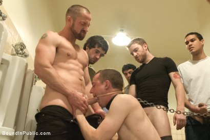 Photo number 4 from Ultimate Humiliation, Beating and Gang Fuck  shot for Bound in Public on Kink.com. Featuring Holden Phillips and Adam Herst in hardcore BDSM & Fetish porn.
