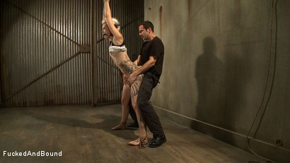 Photo number 7 from Breaking in the Newcomer shot for  on Kink.com. Featuring Maestro and Romona Vaine in hardcore BDSM & Fetish porn.