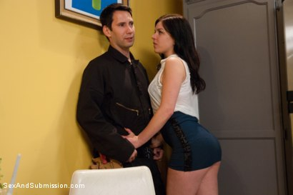 Photo number 1 from Cheating Wife Tossed Around and Fucked in the Ass: Juliette March and Tommy Pistol  shot for Sex And Submission on Kink.com. Featuring Tommy Pistol and Juliette March in hardcore BDSM & Fetish porn.