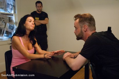 Photo number 4 from The Informant starring Veronica Avluv shot for Sex And Submission on Kink.com. Featuring James Deen and Veronica Avluv in hardcore BDSM & Fetish porn.