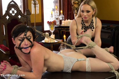 Photo number 4 from Lesbian Foot Torture shot for Foot Worship on Kink.com. Featuring Aiden Starr and Veruca James in hardcore BDSM & Fetish porn.