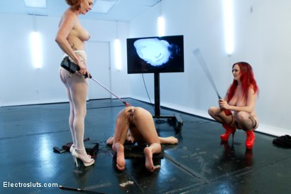 Photo number 13 from Ass Up Sensory Deprivation Electro DP!! shot for Electro Sluts on Kink.com. Featuring Mz Berlin, Bianca Stone and Audrey Hollander in hardcore BDSM & Fetish porn.