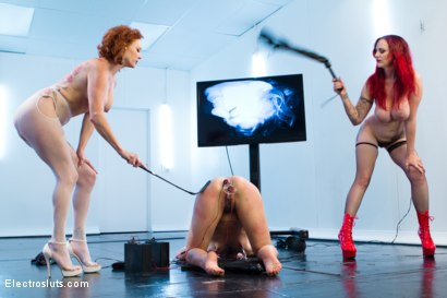 Photo number 4 from Ass Up Sensory Deprivation Electro DP!! shot for Electro Sluts on Kink.com. Featuring Mz Berlin, Bianca Stone and Audrey Hollander in hardcore BDSM & Fetish porn.