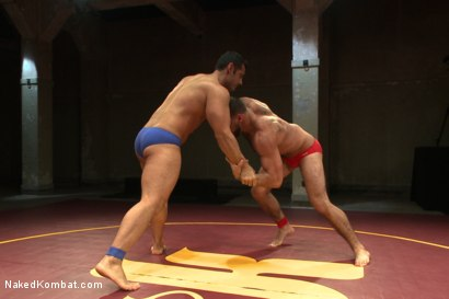 "Photo number 1 from Marcus ""Titan"" Ruhl vs Ricky ""The Legend"" Larkin - Oiled Up Muscle   shot for Naked Kombat on Kink.com. Featuring Marcus Ruhl and Ricky Larkin in hardcore BDSM & Fetish porn."