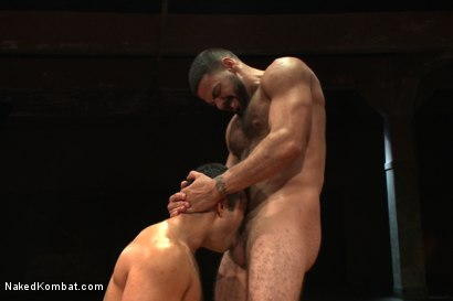 "Photo number 12 from Marcus ""Titan"" Ruhl vs Ricky ""The Legend"" Larkin - Oiled Up Muscle   shot for Naked Kombat on Kink.com. Featuring Marcus Ruhl and Ricky Larkin in hardcore BDSM & Fetish porn."