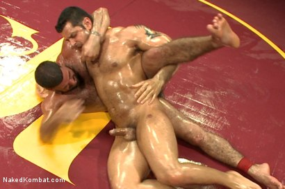 """Photo number 7 from Marcus """"Titan"""" Ruhl vs Ricky """"The Legend"""" Larkin - Oiled Up Muscle   shot for Naked Kombat on Kink.com. Featuring Marcus Ruhl and Ricky Larkin in hardcore BDSM & Fetish porn."""