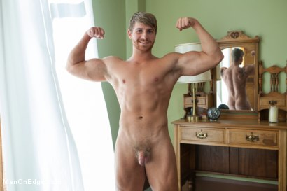 Photo number 1 from Bushy Blond Pubic Hair shot for Men On Edge on Kink.com. Featuring Logan Vaughn in hardcore BDSM & Fetish porn.
