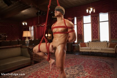 Photo number 2 from Bushy Blond Pubic Hair shot for Men On Edge on Kink.com. Featuring Logan Vaughn in hardcore BDSM & Fetish porn.