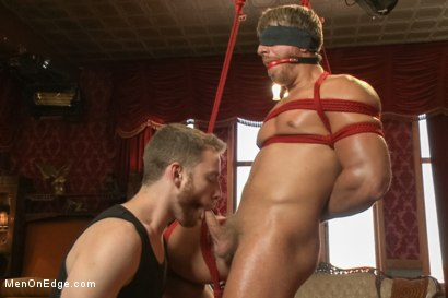 Photo number 12 from Bushy Blond Pubic Hair shot for Men On Edge on Kink.com. Featuring Logan Vaughn in hardcore BDSM & Fetish porn.