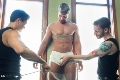 Photo number 14 from Bushy Blond Pubic Hair shot for Men On Edge on Kink.com. Featuring Logan Vaughn in hardcore BDSM & Fetish porn.
